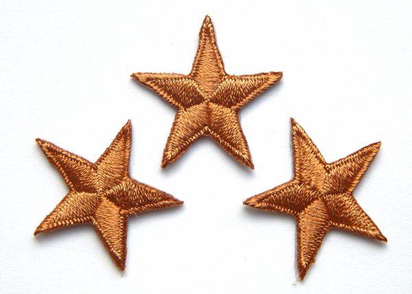 Iron-on brown stars