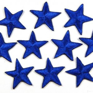 Blue embroidered stars