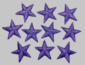 Purple iron on stars