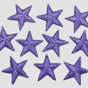 Iron on purple stars