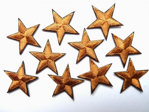 Bronze reward stars