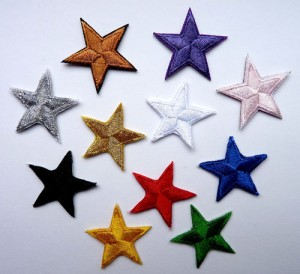 Iron on stars in lots of colours