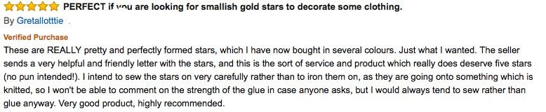silver stars applique review