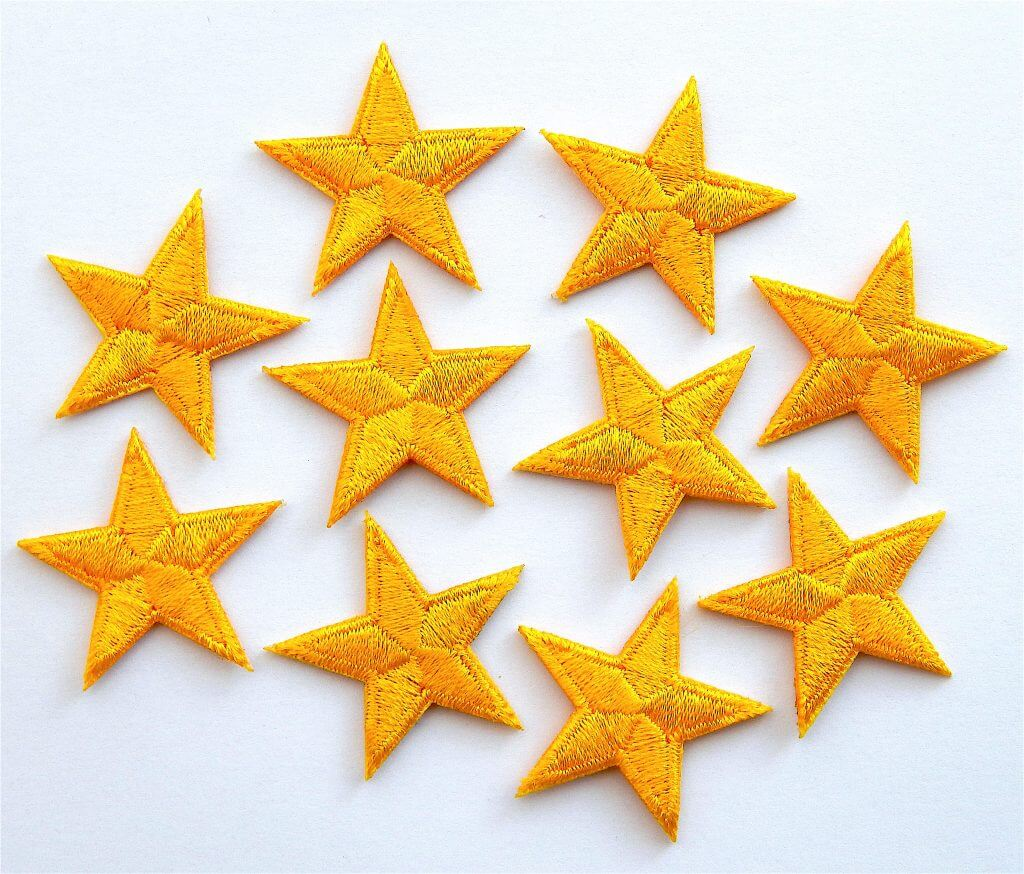 Yellow stars applique