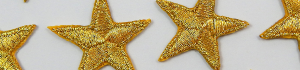 Iron on gold stars