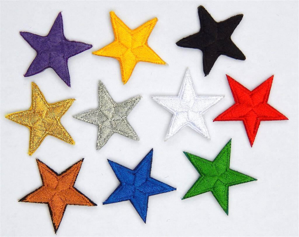 iron on stars applique