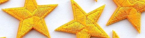 Embroidered iron-on stars