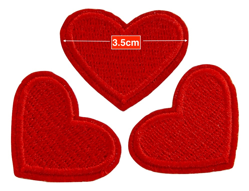 Red heart patches