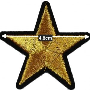 Iron on gold stars