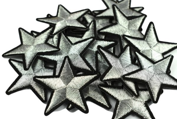 Iron on silver stars